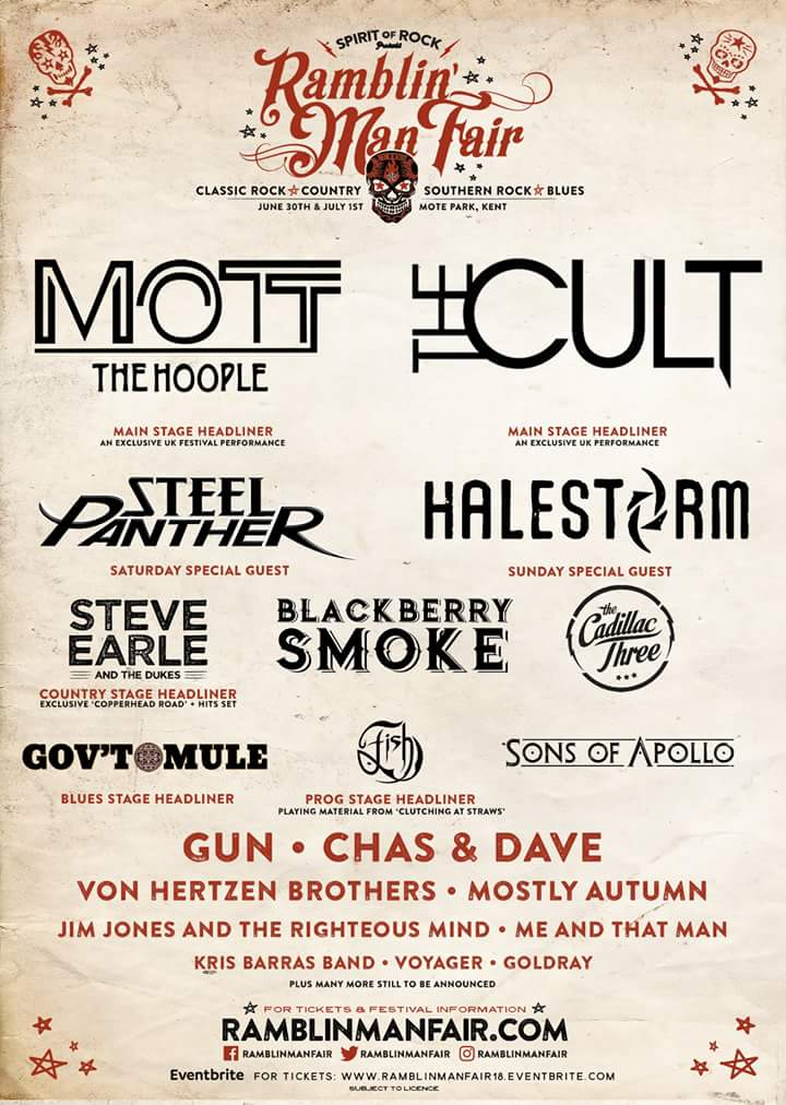 Ramblin' Man Fair 2018 line up..
