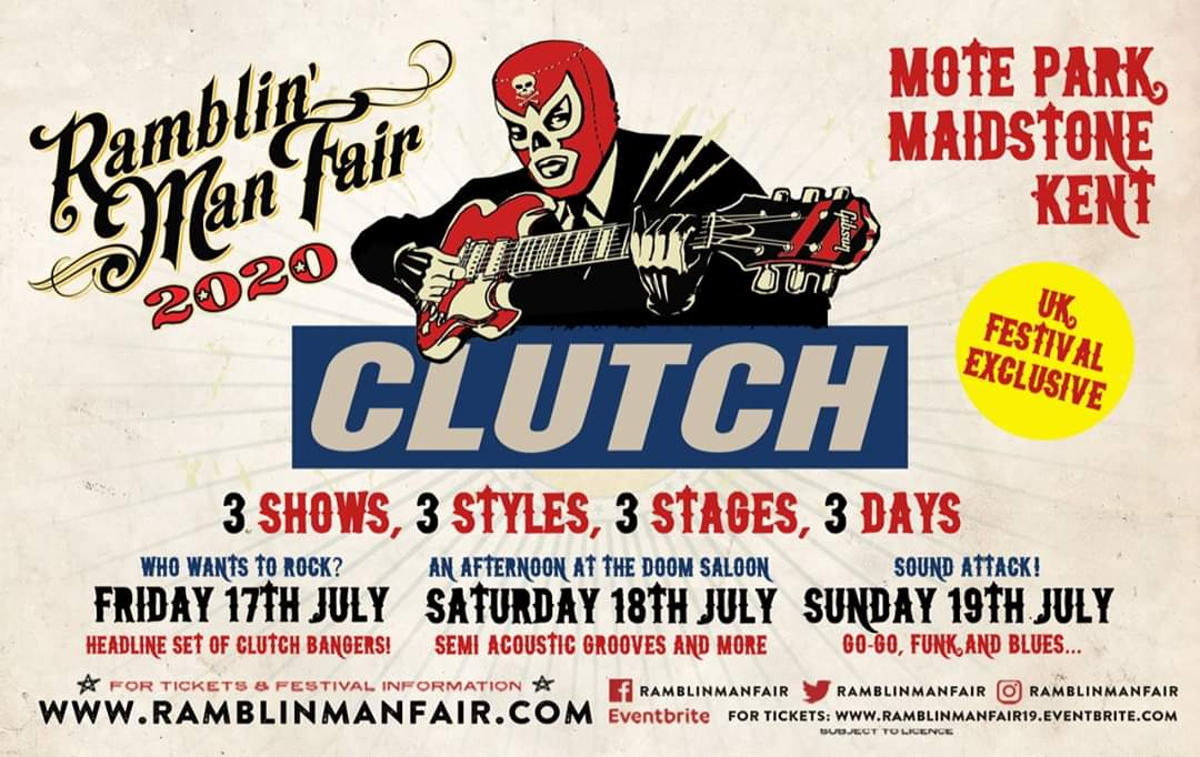 Band announcement from Ramblin' Man Fair and its a corker!!