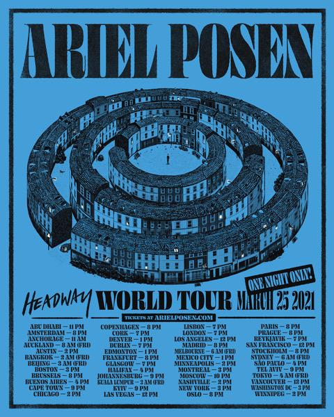 ARIEL POSEN ANNOUNCES ONE-OFF: 'WORLD TOUR' LIVE CONCERT
