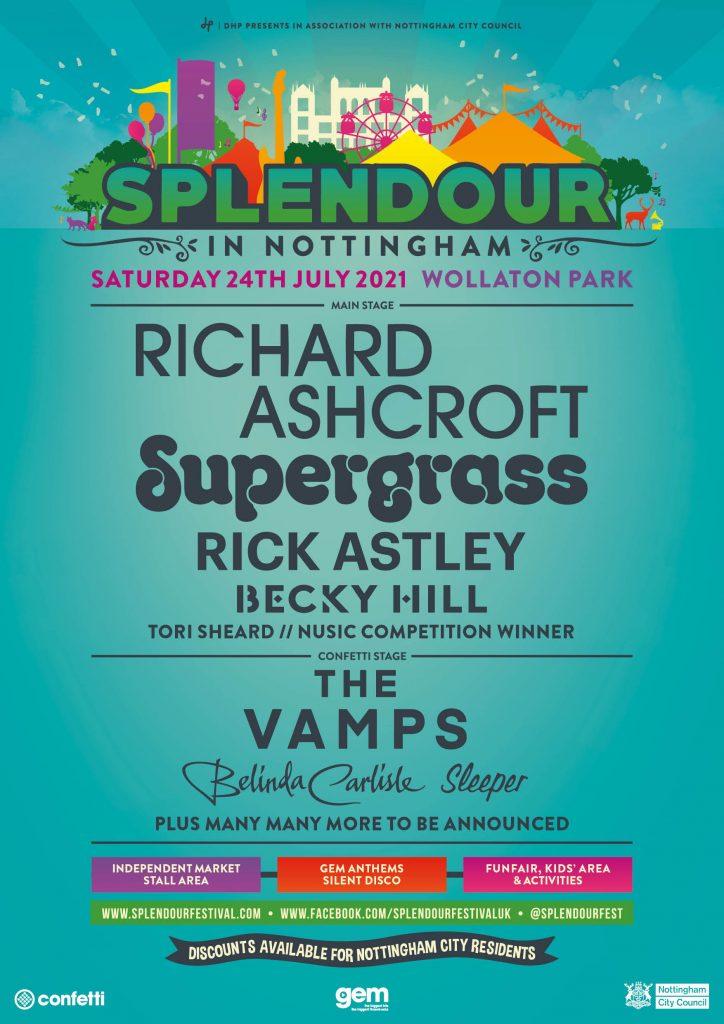 Splendour Festival in Nottingham 24th July